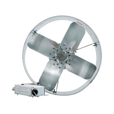 Iliving Gable Mount Attic Fan With Adjustable Thermostat Attic