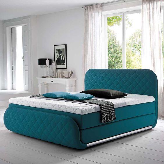 Das Boxspringbett Quartia in Türkis mit Matratze (3-teilig) ist - möbel hardeck schlafzimmer