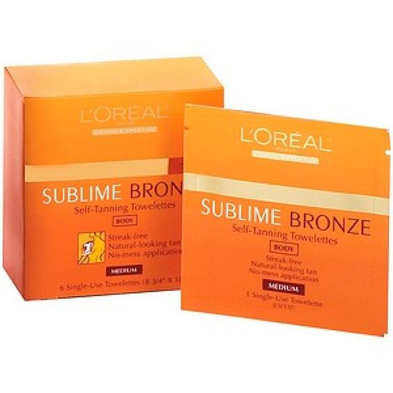 L'Oreal Sublime Bronze Self-Tanning Towelettes, $9