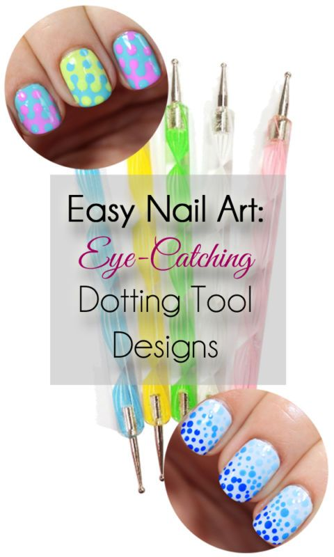 You only need a dotting tool for these easy nail art designs