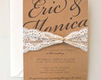 Rústica elegancia impreso o imprimible boda por JubeeleeArt en Etsy