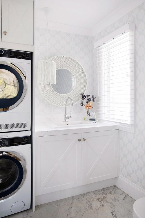 Episode 1 House 11 Three Birds Renovations Laundry Bathroom Combo Laundry In Bathroom Laundry Room Inspiration