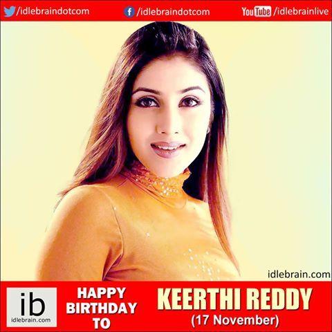 Happy birthday to Keerthi Reddy (17 November) - http://idlebrain.com