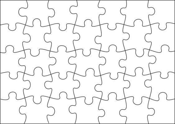 Puzzle template to create your own puzzles (more sizes on site)