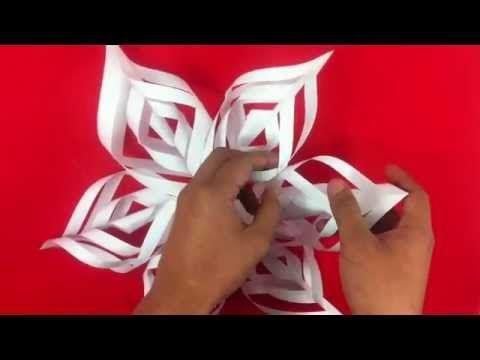 Copo de nieve de papel manualidades de origami youtube - Copos de nieve manualidades ...