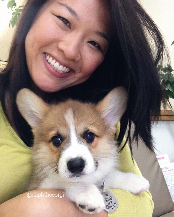 #BabyRalph's first vet visit. #WhatTheFurkIsWrongWithYouMahm #HowCanYouSmileAndTakeASelfieAtATimeLikeThis? #ThatTimeMahmTookPupternityLeave #NoReally #tbt #RalphTheCorgi #ralphthecorgi