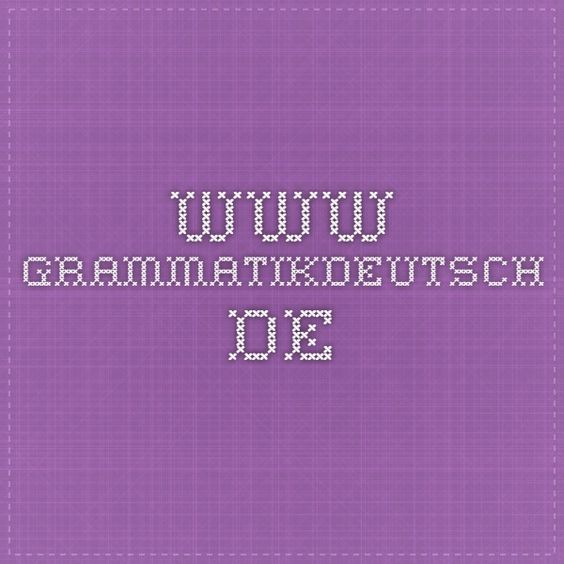 www.grammatikdeutsch.de