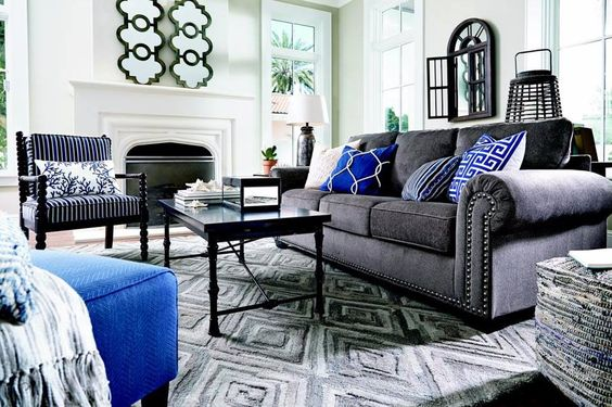 Ashley 870 Navasota Accent Chair 296 00 Grey Couch Living Room Living Room Grey Navy Living Rooms