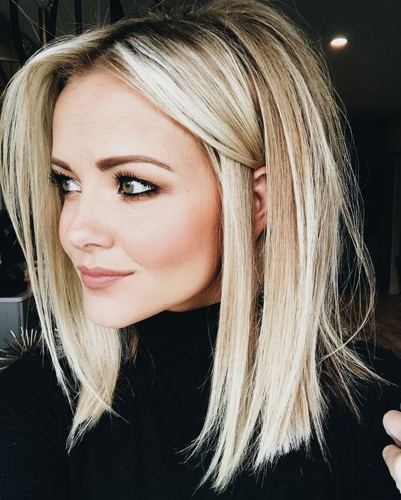 Cute Hairstyles For Shoulder Length Straight Hair Hair Styles Long Bob Hairstyles Medium Hair Styles