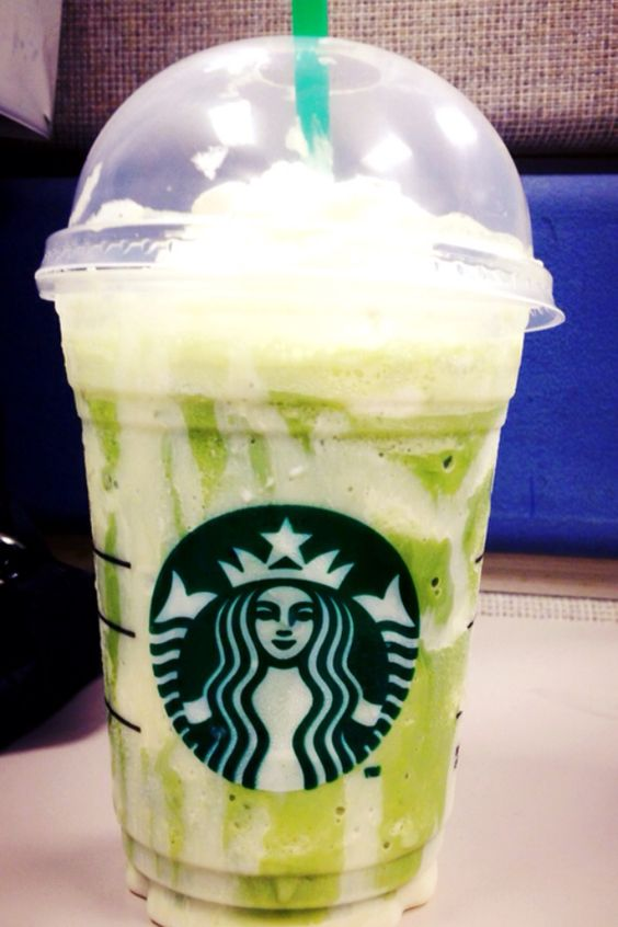 Green Tea Frappuccino With Thai Walls From Starbucks