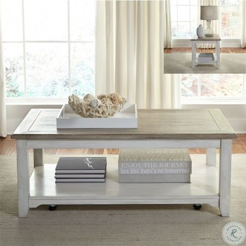 Summerville Soft White Wash End Table In 2020 Liberty Furniture Furniture Coffee Table
