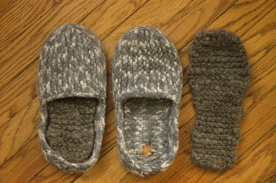This week's Math4Knitters, Crafty Living free pattern is a quick knit to revitalize your old slippers. Simply knit, and felt, new insoles. Get the pattern and listen to a podcast featuring designer Tanis Gray at journalgazette.net/craftyliving starting on May 6, 2012. Photo by Lara Neel, The Journal Gazette.