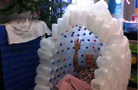 Milk Jug Igloo - Tip Junkie: Milk Jug Igloo, 100Th Day, Preschool Ideas, Igloo Idea, Milk Jugs, Clever Ideas, Craft Ideas