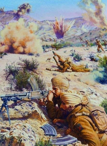 Indian Division Mareth Line assault - Tunisia 1943.