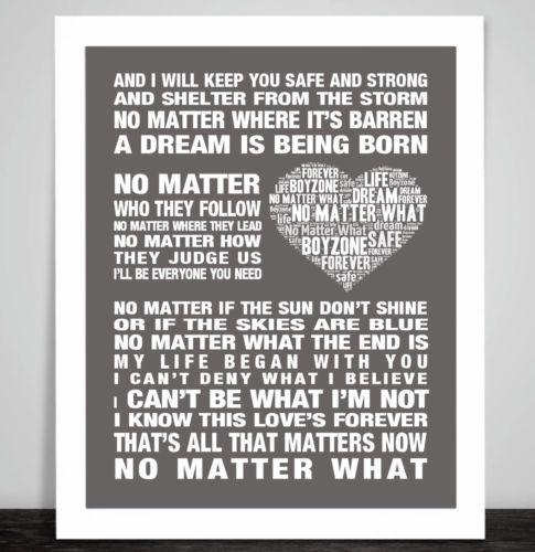 Ben Howard  Keep your head up Music Song Lyric Word Art Print Poster Love Dance