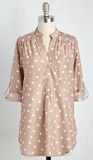 polka dot weekend tunic