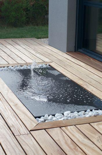 Fontaine dans terrasse