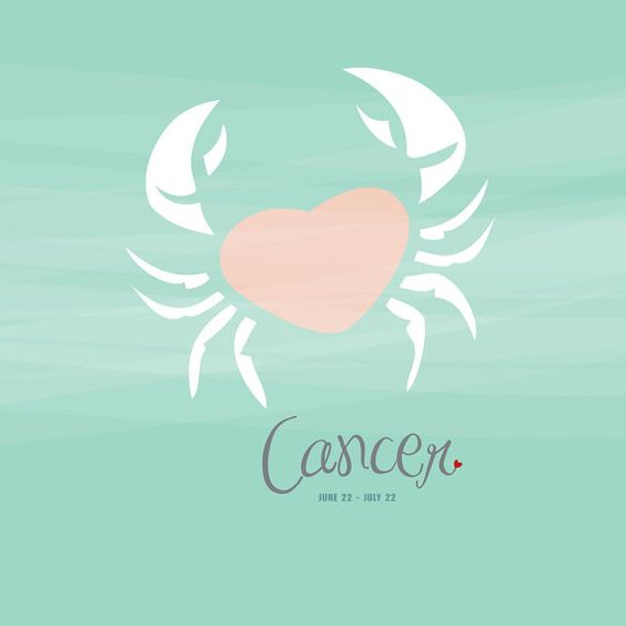 Cancer Zodiac Sign Print for kids' rooms and baby nurseries. 8x10 Cancer