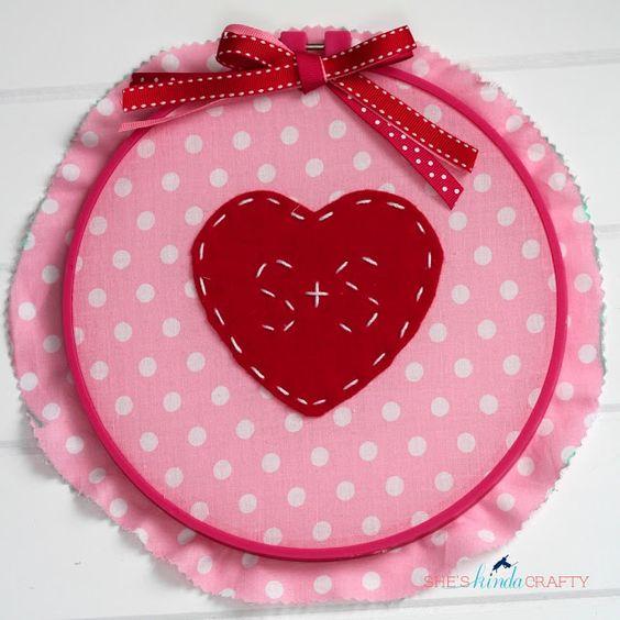 A Hand Stitched Valentine's /// She's Kinda Crafty