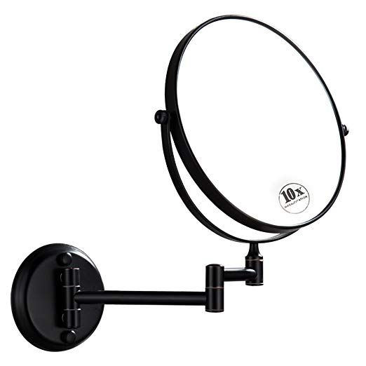Dowry Oil Rubbed Bronze Wall Mount Magnifying Mirror With 10x