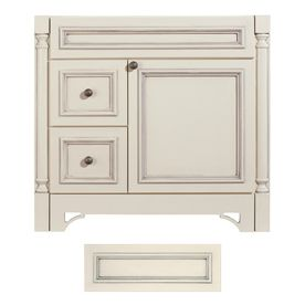 Architectural Bath Savannah 36 In X 21 In Vanilla Traditional Bathroom Vanity Lowes Bathroom