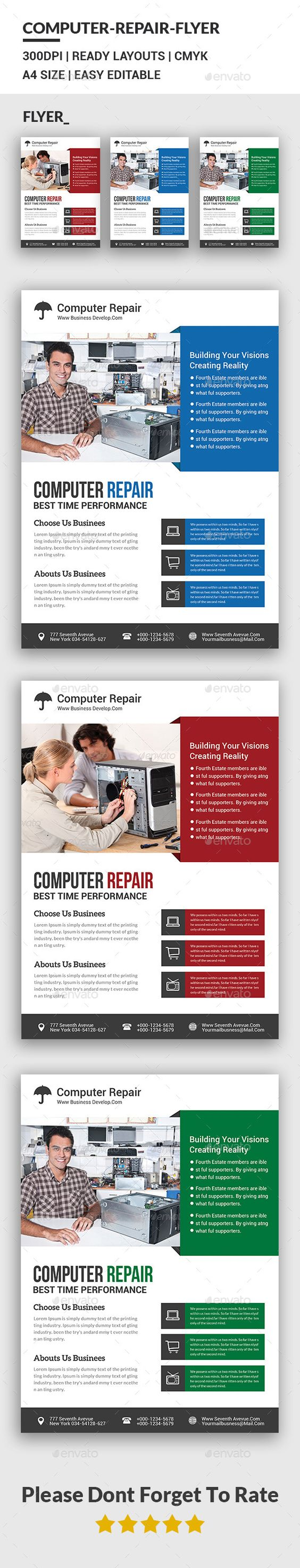 Computer Repair Flyer Template | Flyer template, Computers and Flyers
