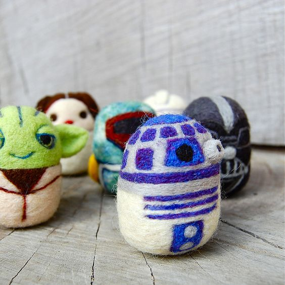 little felted star wars figures make me squee