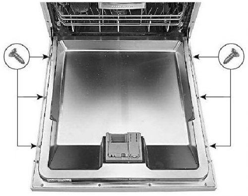 Removing Outer Door In The Dishwasher Bosch Bosch Dishwashers Bosch Dishwasher