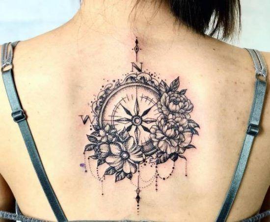 Wonderbaar Kompas tattoo: betekenis en 60 ideeën ter inspiratie RW-91