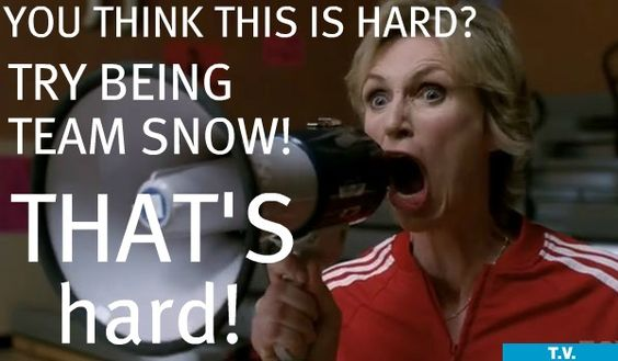 Sue would totally be Team Snow.