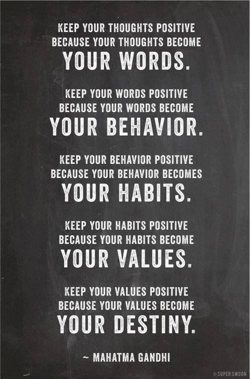 :): Habits Values, Behavior Habits, Gandhi Quotes, Inspirational Quotes, Positive Thoughts, Favorite Quotes, Wise Word, Thoughts Positive