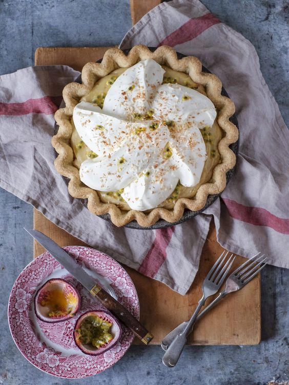 Banana Cream Pie with Passion Fruit and Coconut — The Boy Who Bakes