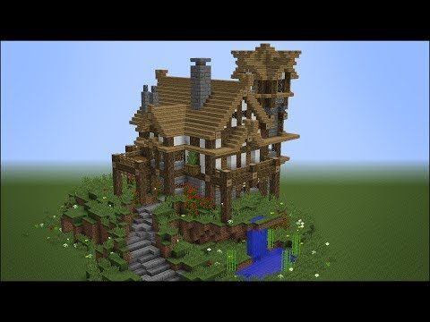 Building The Best Rustic Medieval House In Minecraft Best Minecraft House Ever Youtube Minecraft Stables Minecraft Medieval House Cool Minecraft Houses