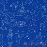 Lizzy House Constellations Constellation Blue [AF-5976-W] - $10.45 : Pink Chalk Fabrics is your online source for modern quilting cottons and sewing patterns., Cloth, Pattern + Tool for Modern Sewists