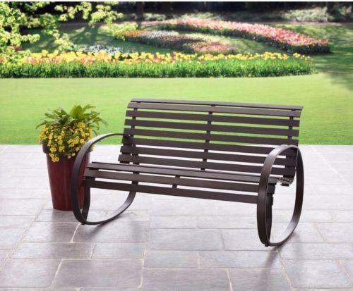 Patio Furniture Clearance Outdoor Garden Bench Metal Rocker Seat Backyard Home - http://home-garden.goshoppins.com/yard-garden-outdoor-living/patio-furniture-clearance-outdoor-garden-bench-metal-rocker-seat-backyard-home/