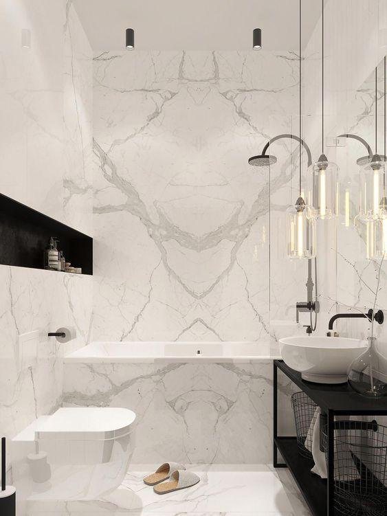 Bathroom Marble Ideas For Luxurious Effect Decortrendy Modern Marble Bathroom Luxury Bathroom Master Baths Bathroom Interior Design
