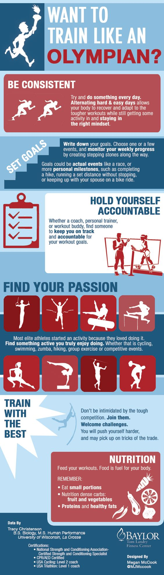 Want to train like an Olympian? Check out our #Olympics #infographic for some great tips!     #BaylorHealth