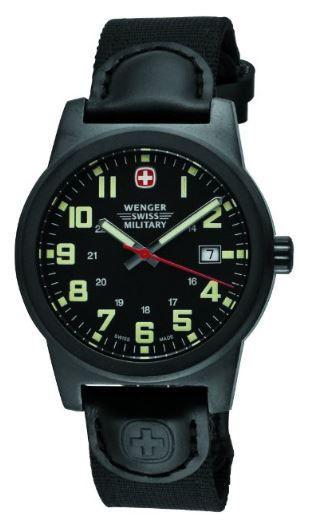 badb80eaf2a Wenger Men s Classic Field Swiss Military Watch 72915 The Wenger Swiss  Military Men s Classic Field Military Watch showcases superior construction  and quick