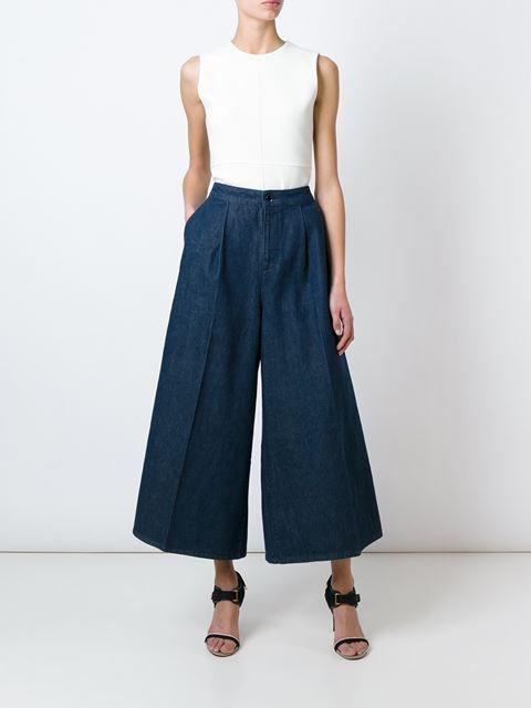 Victoria Victoria Beckham Calça pantacourt jeans