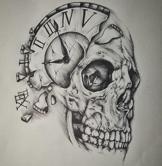 49 Amazing Clock Tattoos Ideas Clock Tattoo Tattoo Design Drawings Skulls Drawing