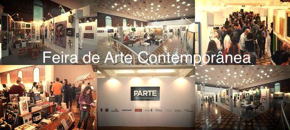 Montagem oficial da Feira de Arte Contemporânea.