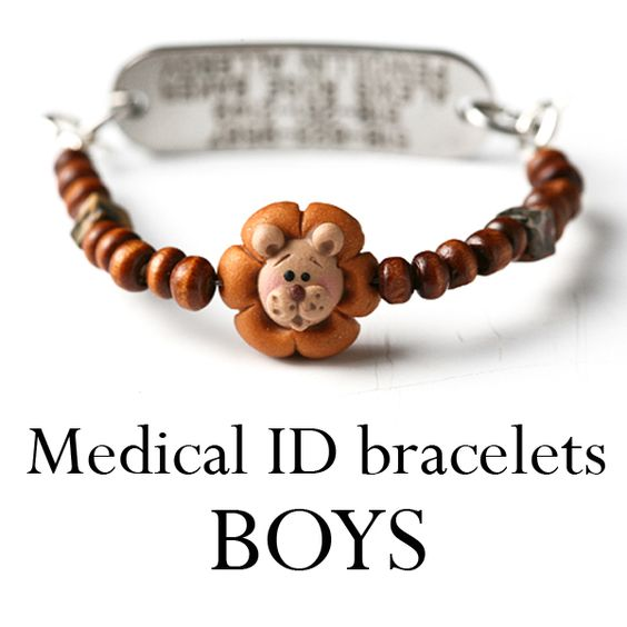 Medical Alert bracelets for boys. @Katie Kahler.....for Noah?
