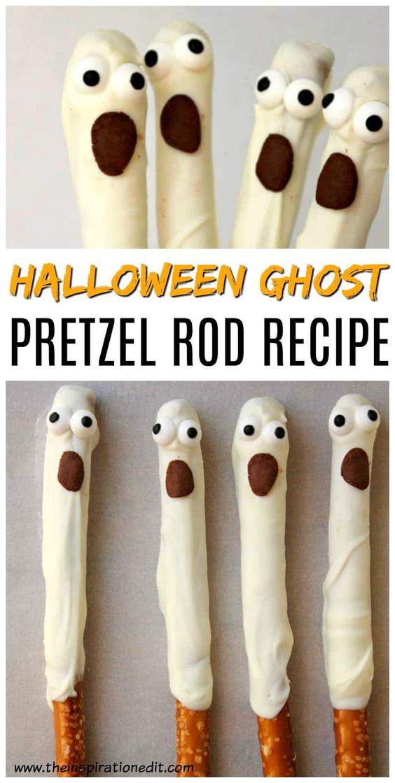 Ghost Halloween Pretzels Recipe · The Inspiration Edit