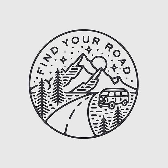 Esse desenho é bem maneiro pra quem gosta de viajar de carro. E de tatuagem