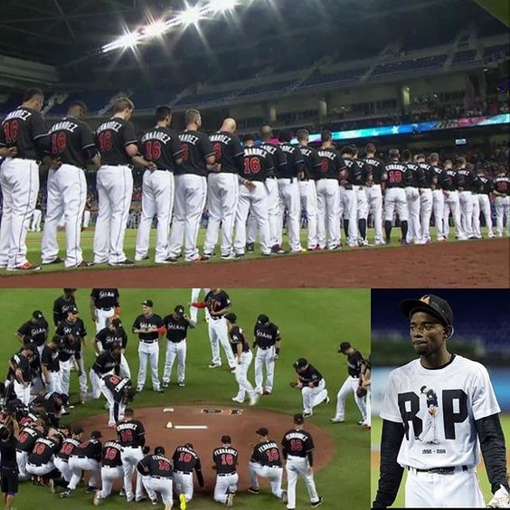You can't make this up. A breath-taking pregame ceremony to honor the late Jose Fernandez was followed by an incredible leadoff homerun by Dee Gordon. Gordon was seen crying around the bases as he was embraced in the dugout. #RIPJoseFernandez