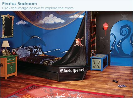 Adorable pirate bedroom