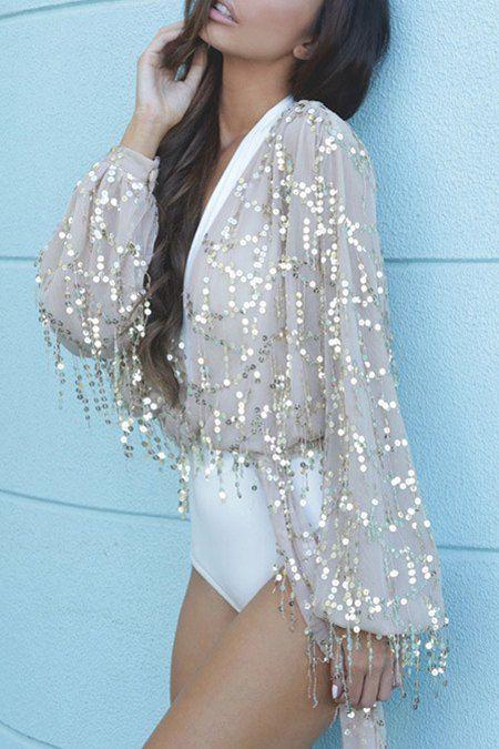 Short Sequinned Summer Jacket #style #fashion