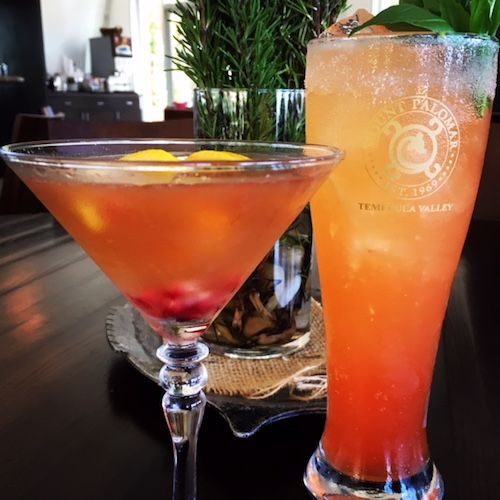 Happenings in California's Temecula Valley Wine Country - Craft cocktails at Annata Bistro/Bar, one of the few full service bars in Temecula Valley wine country. Enjoy a unique cocktail and Mediterranean flair at Mount Palomar Winery's on-site restaurant! #mountpalomarwinery