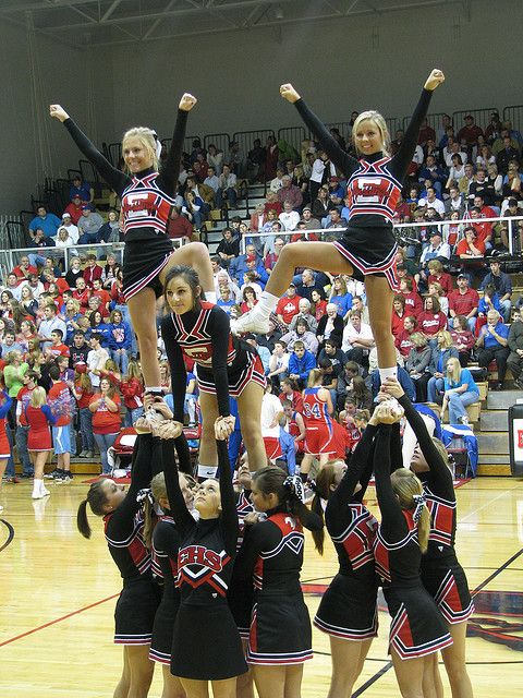 Middle School Cheerleading Stunts | www.imgkid.com - The ...