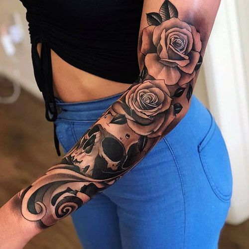 125 Best Flower Tattoos Designs Ideas And Meanings 2019 Guide Rose Tattoo Sleeve Sleeve Tattoos For Women Rose Tattoo Design